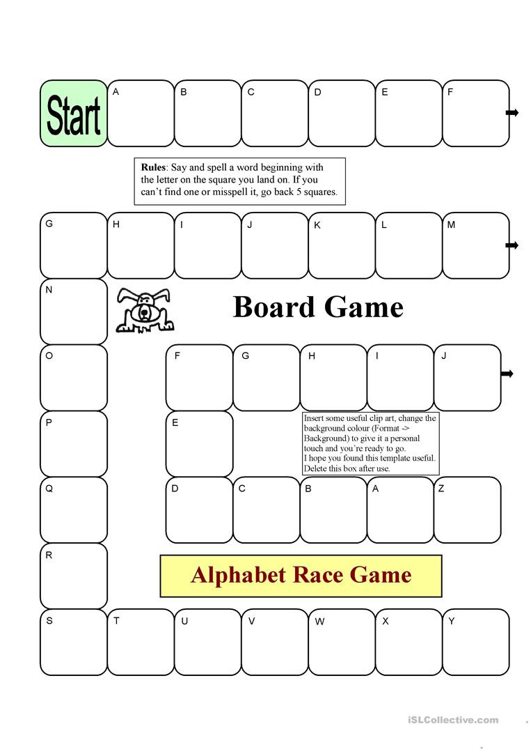 Board Game Template Word