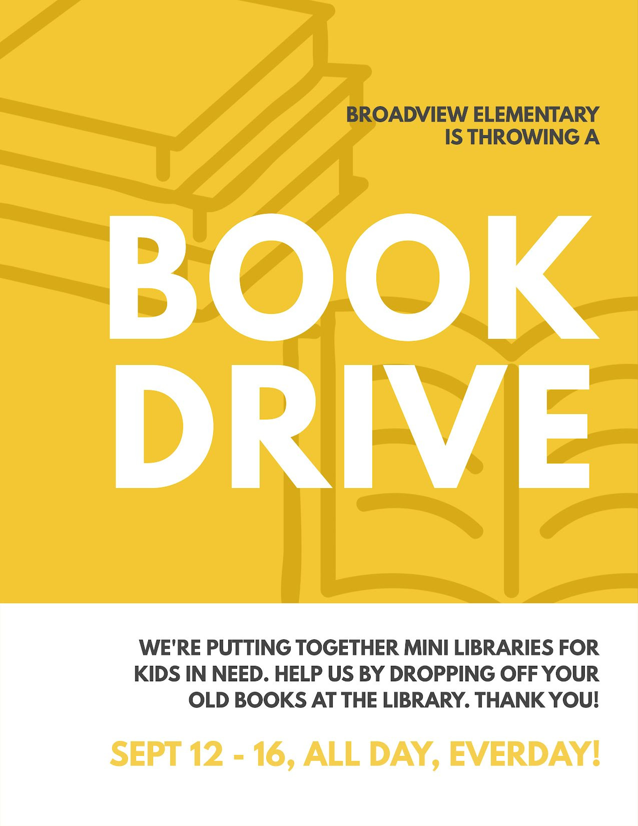 Library Book Drive Template