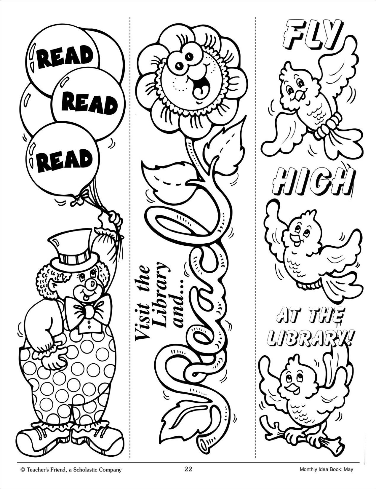 Bookmark Template for Kids