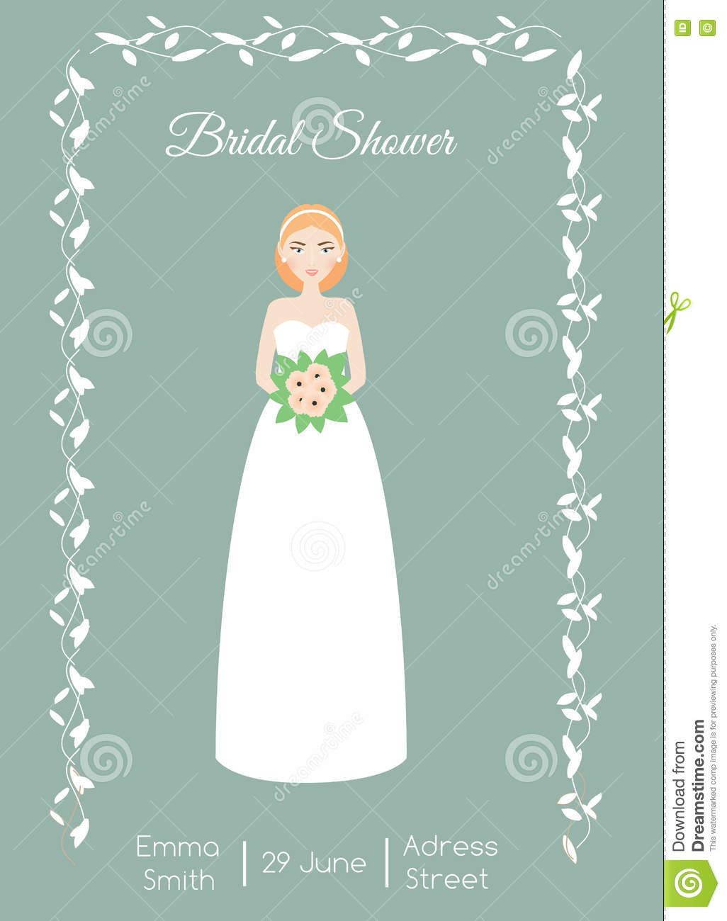Bridal Shower Card Template