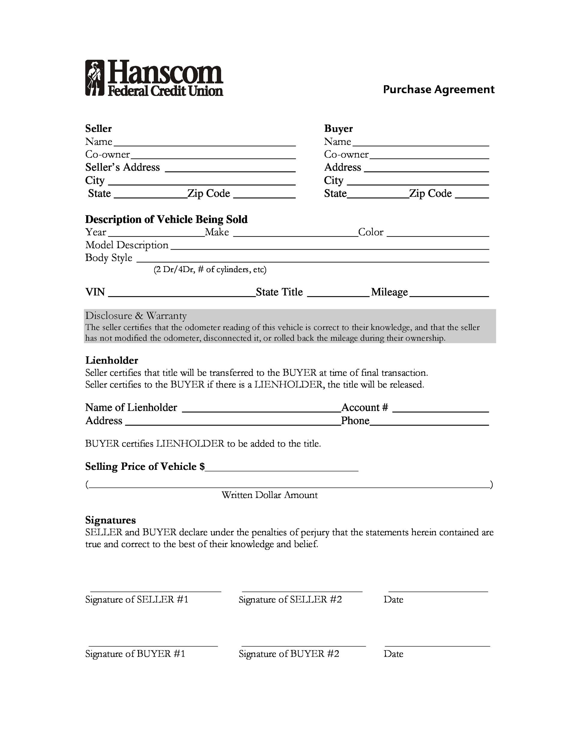 Car Loan Contract Template
