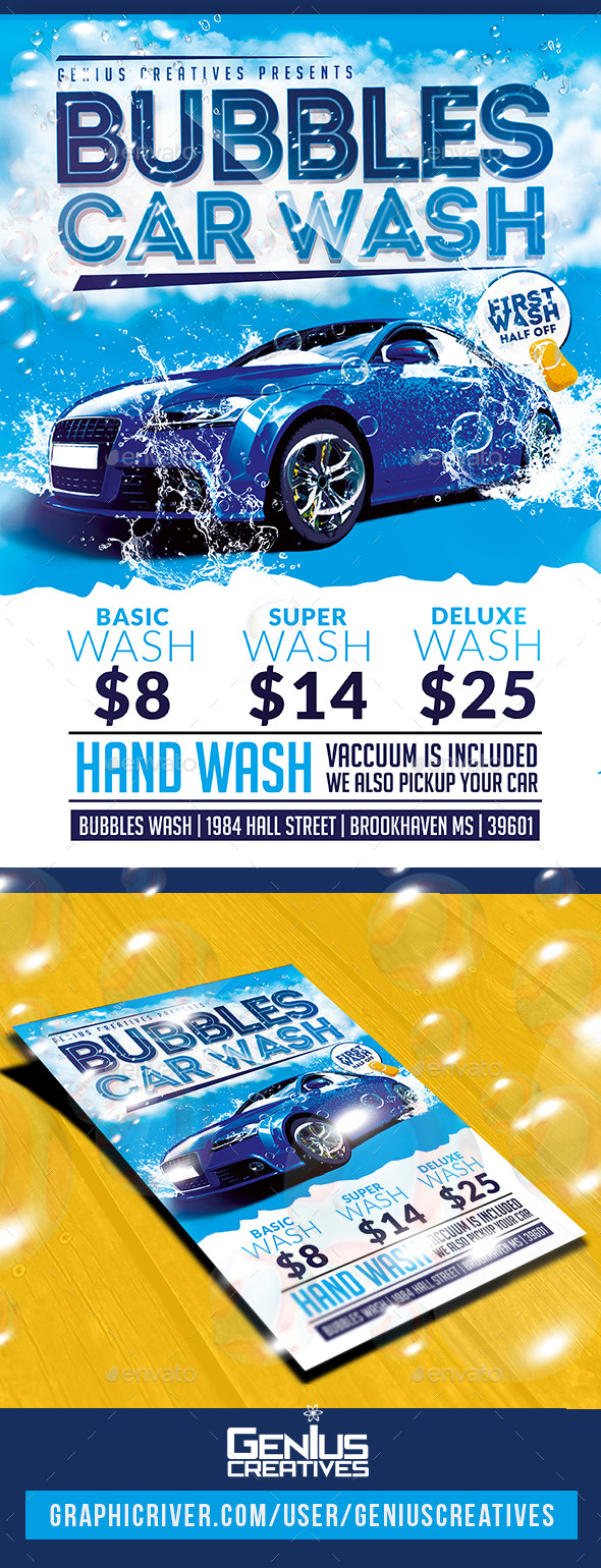 Car Wash Flyer Template