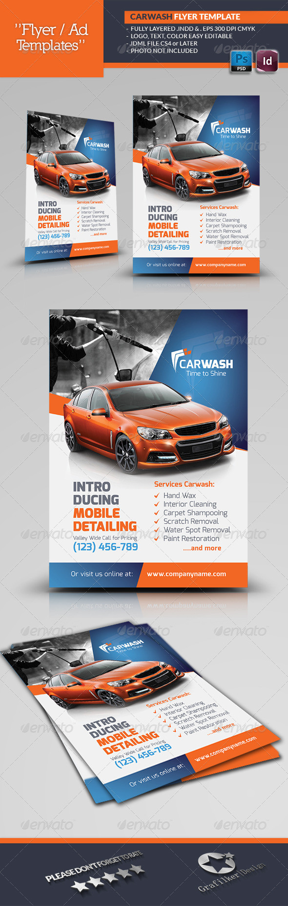 Car Wash Flyers Template