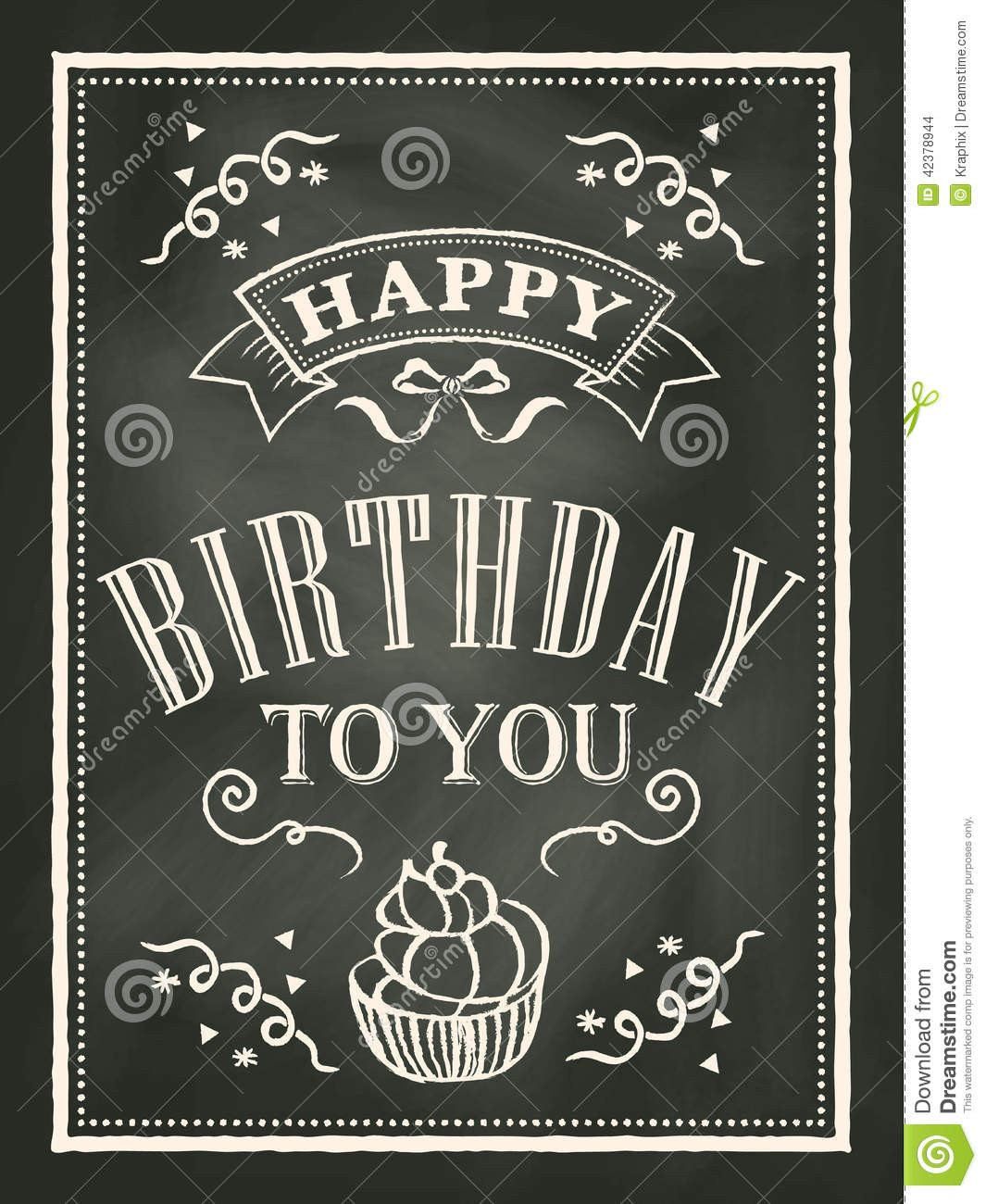 Chalkboard Birthday Sign Template