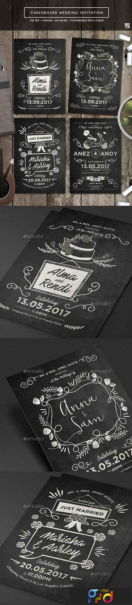 Chalkboard Invitation Template Free