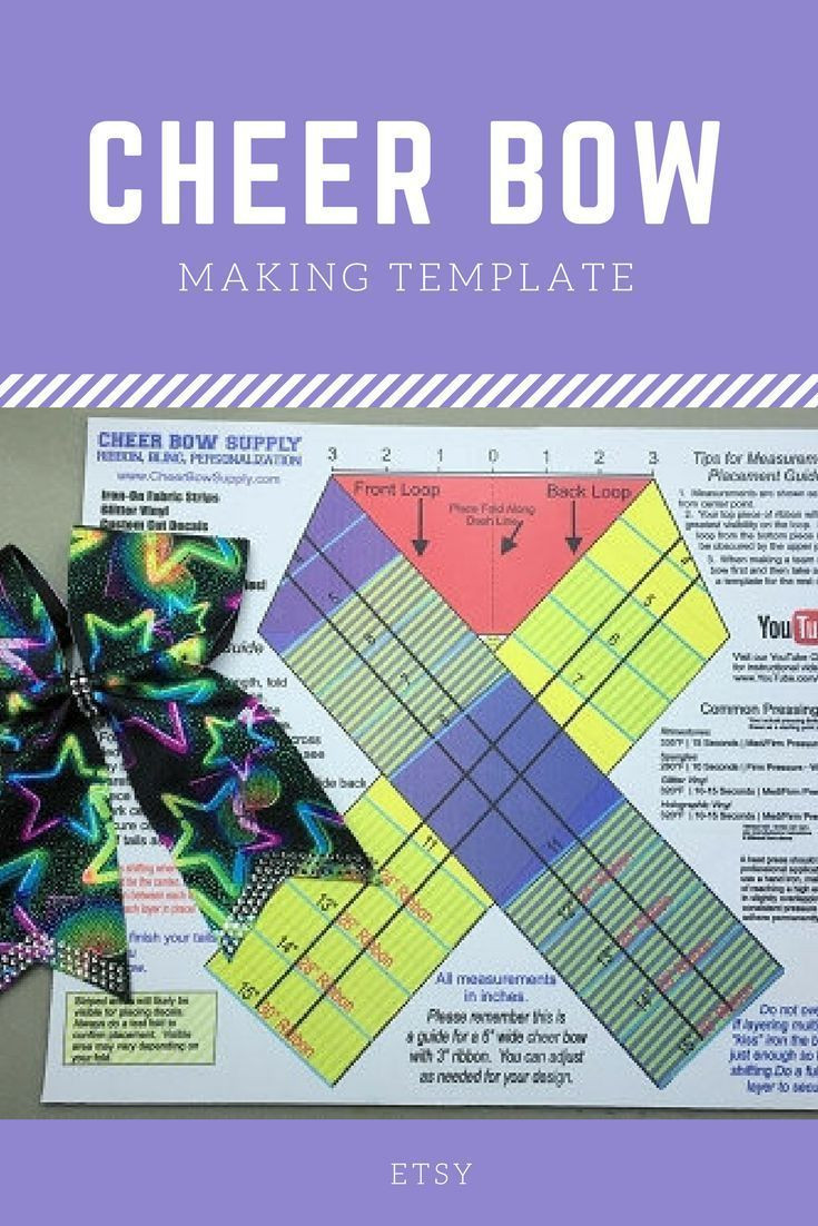 $19 99 Cheer Bow Supply How To Make A Cheer Bow Template Mat