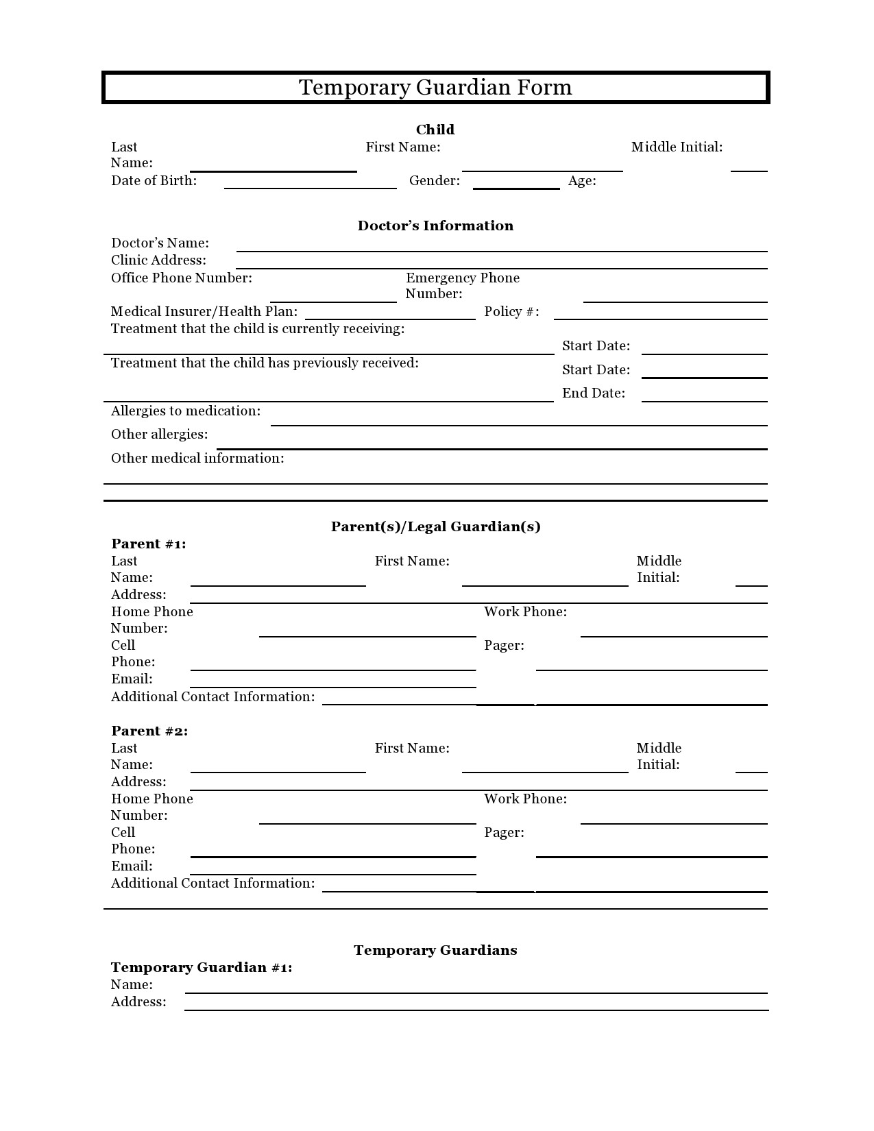 Child Custody Letter Template