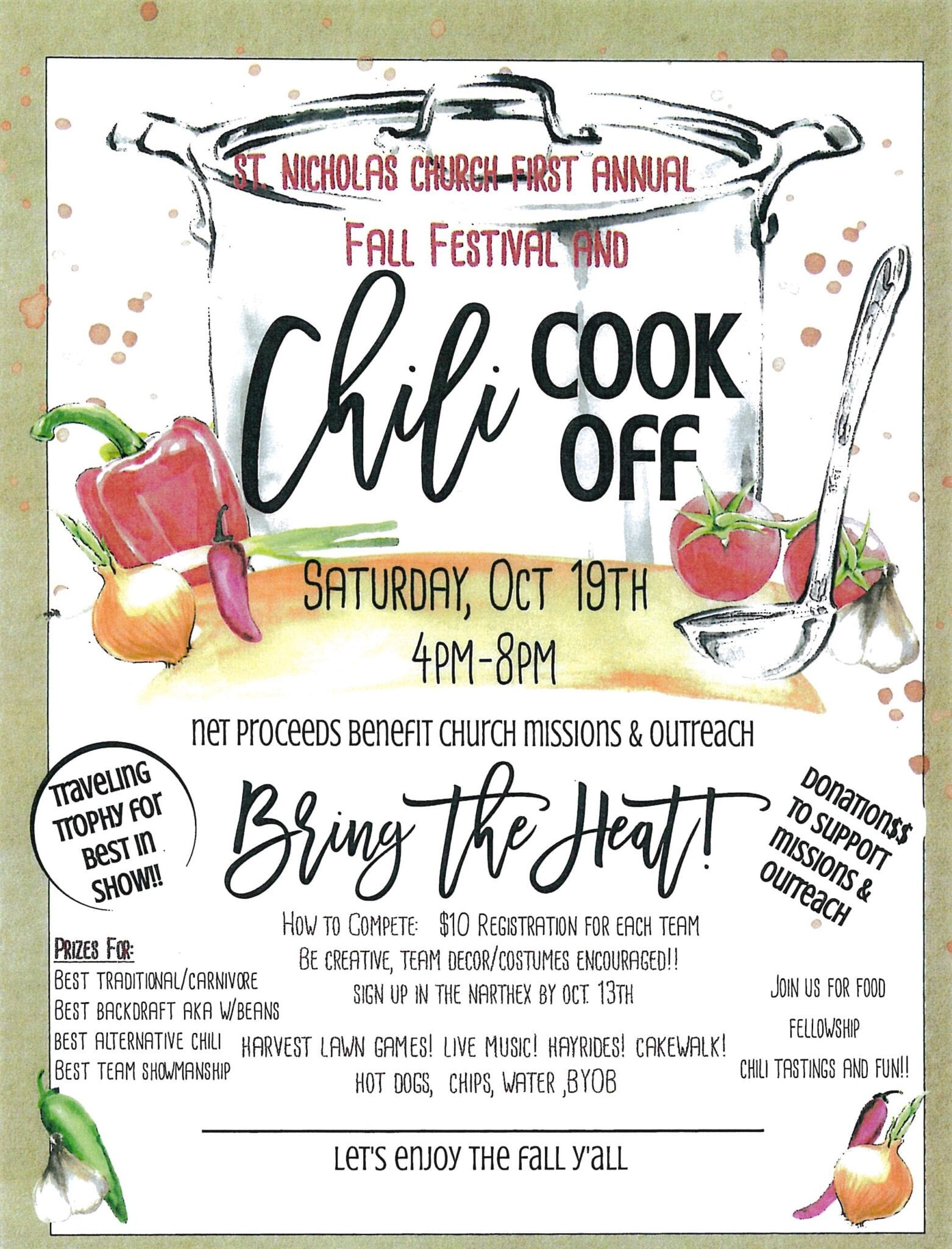 Chili Cook Off Template