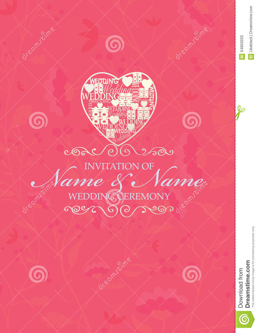 Chinese Wedding Invitations Template