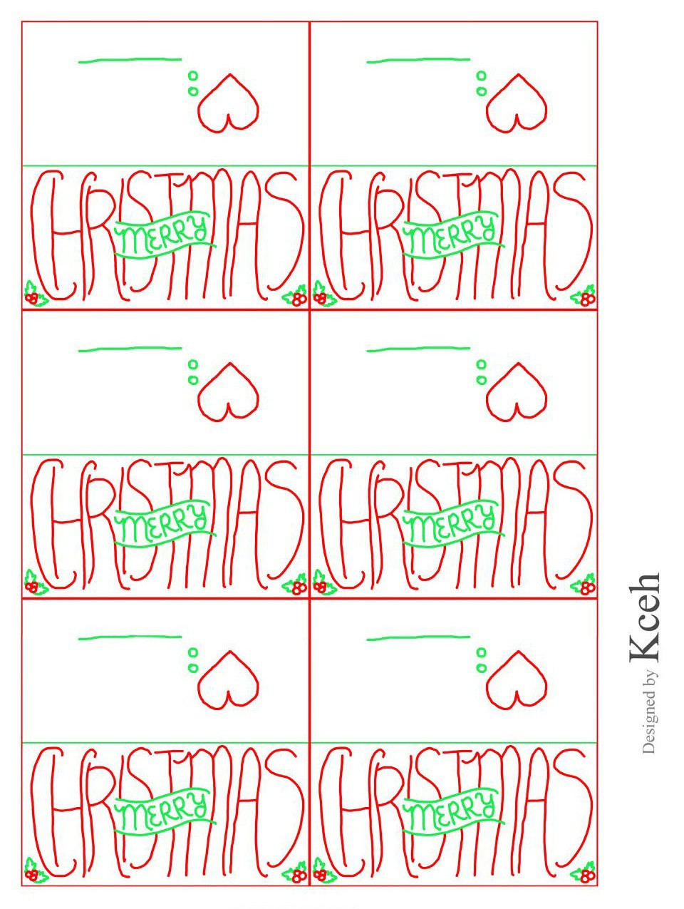 Christmas Mailing Labels Template