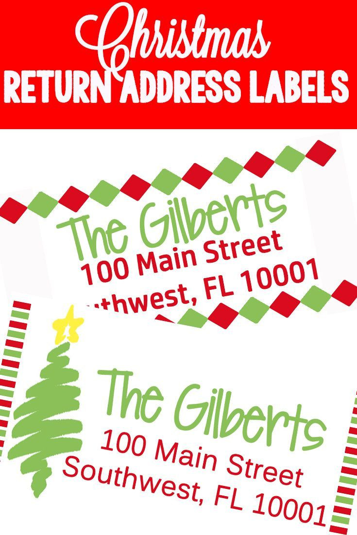 Christmas Themed Return Address Labels