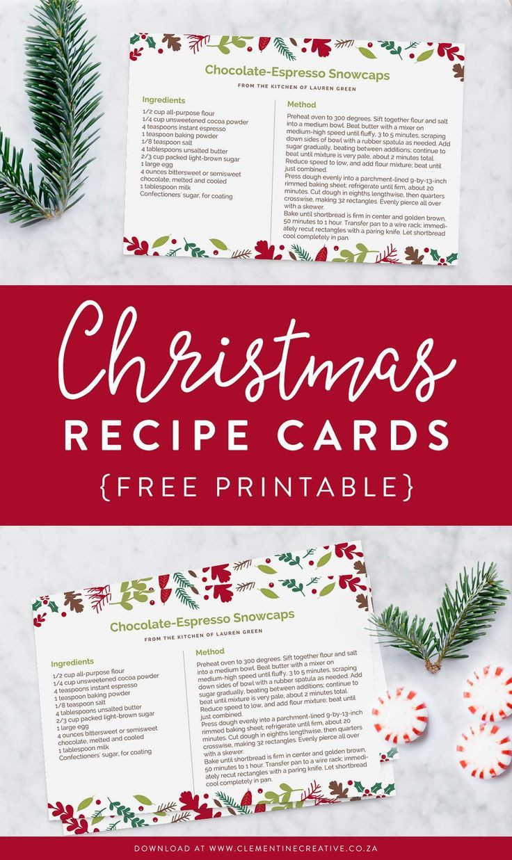 Christmas Recipe Card Template