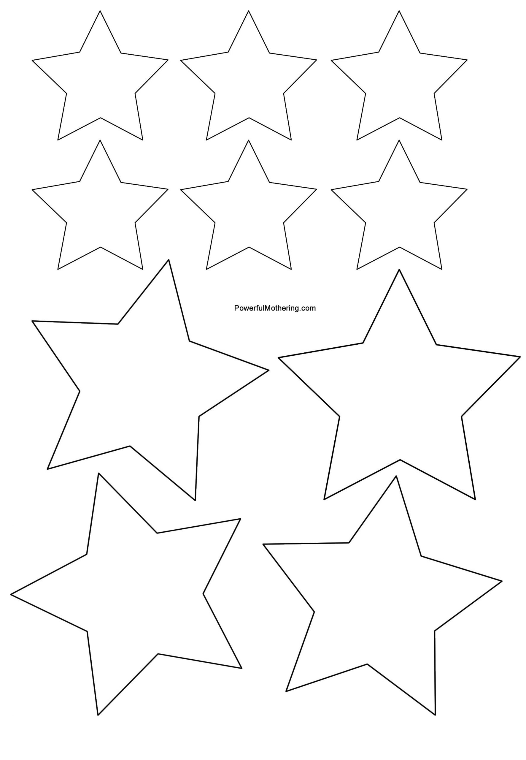 Christmas Tree Cutout Template