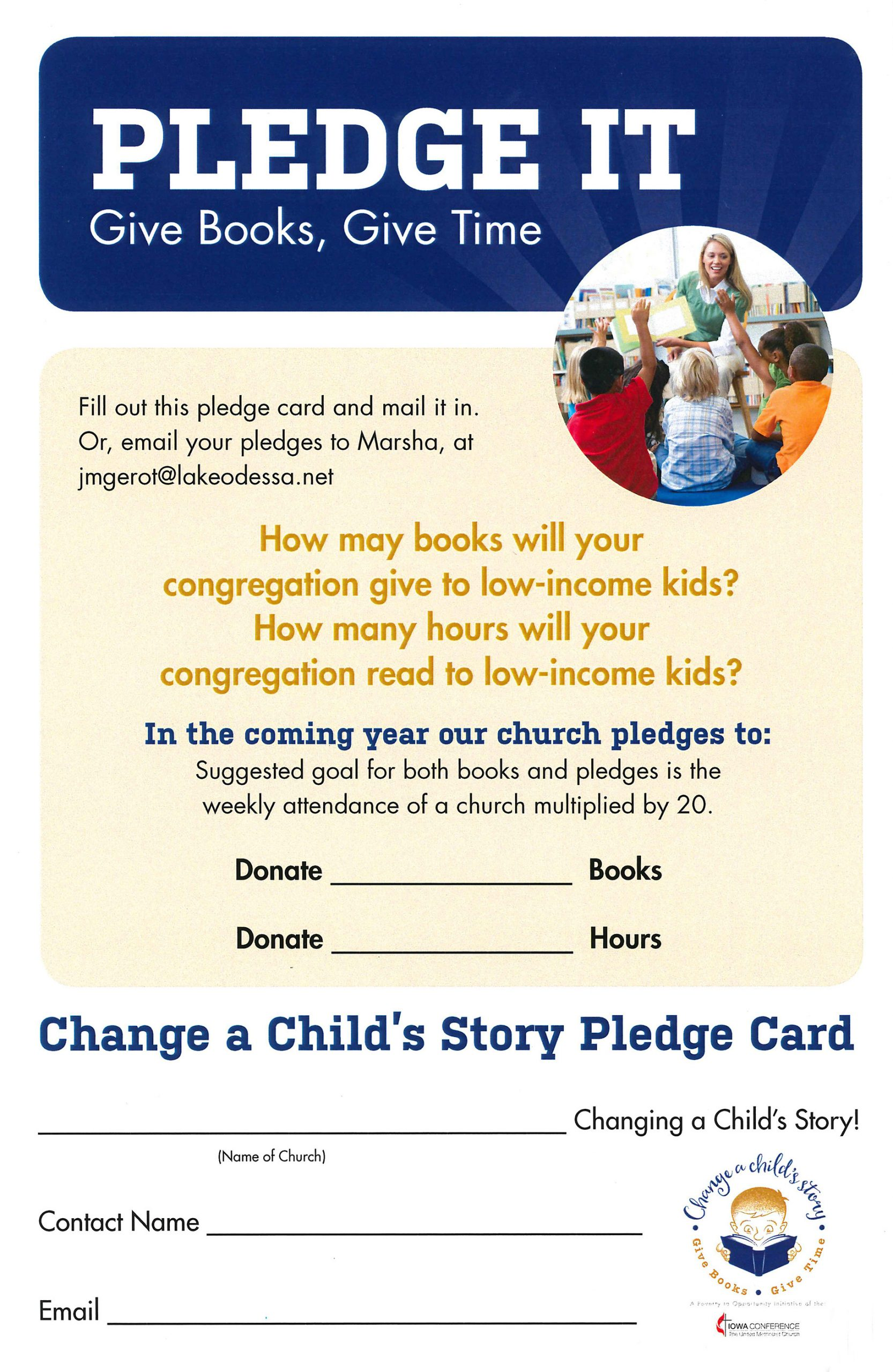 Church Pledge Card Template