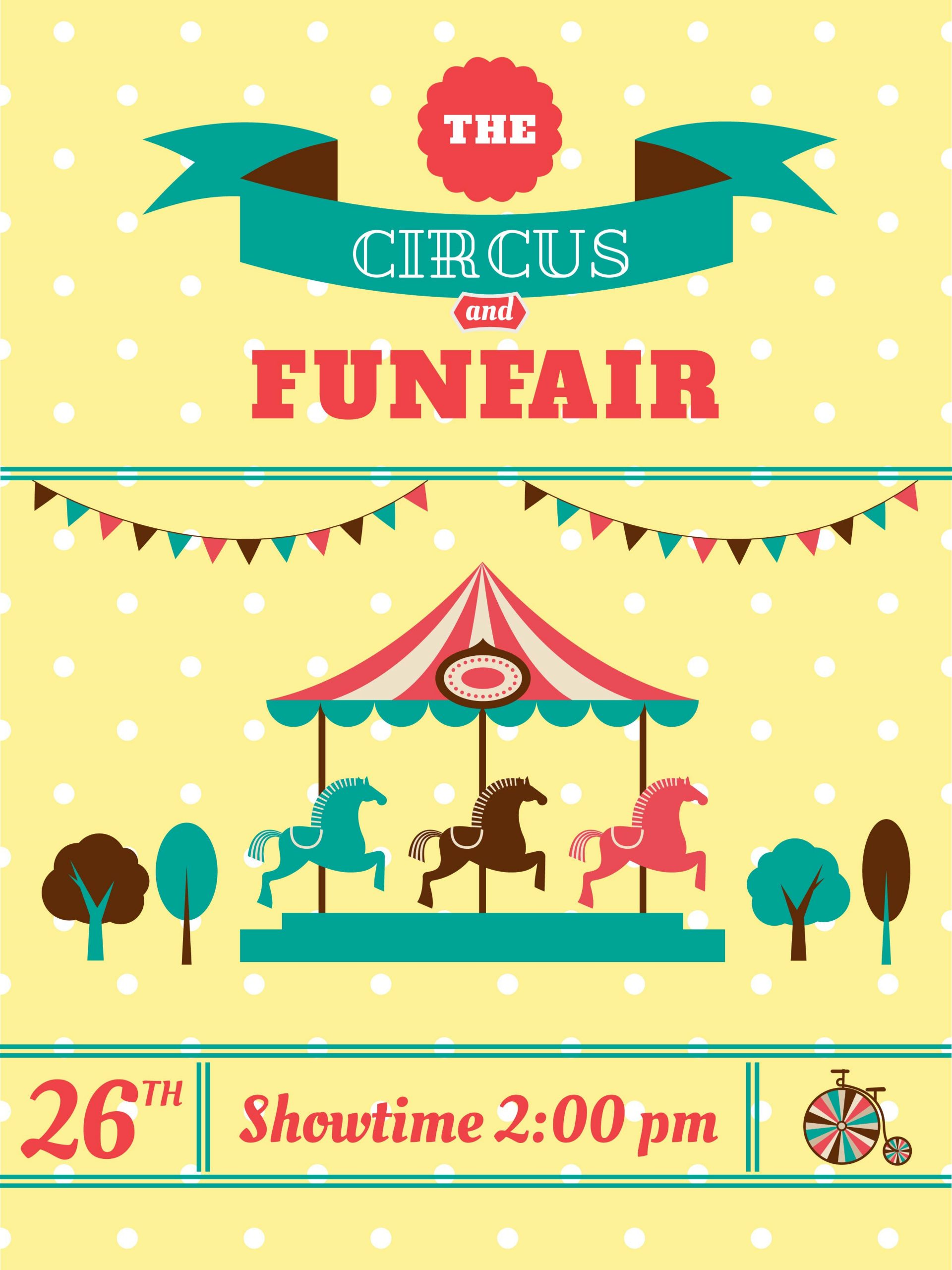 Circus Invitation Template Free