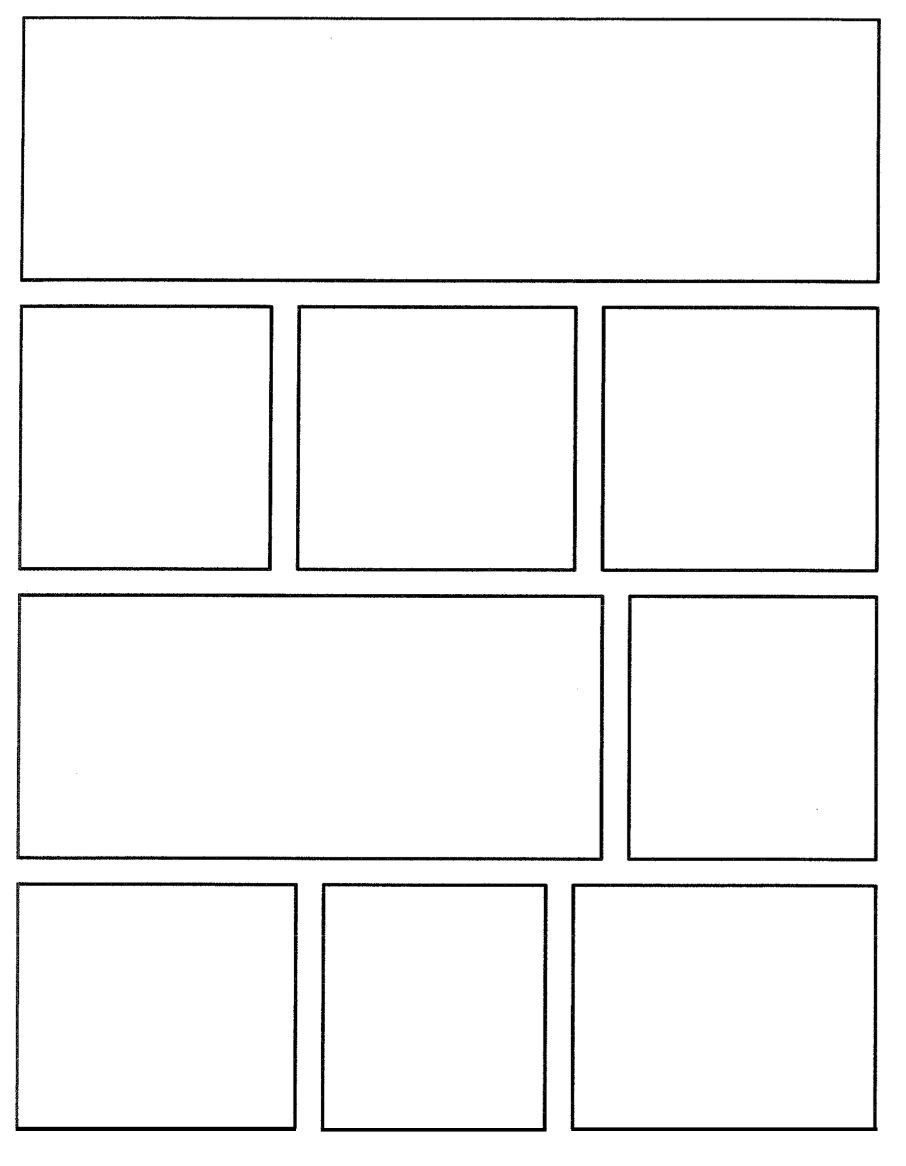 Blank ic Book Strip Template