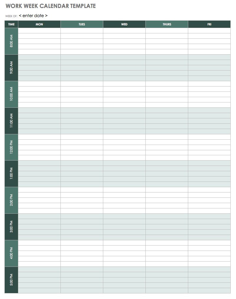 Conference Room Schedule Template