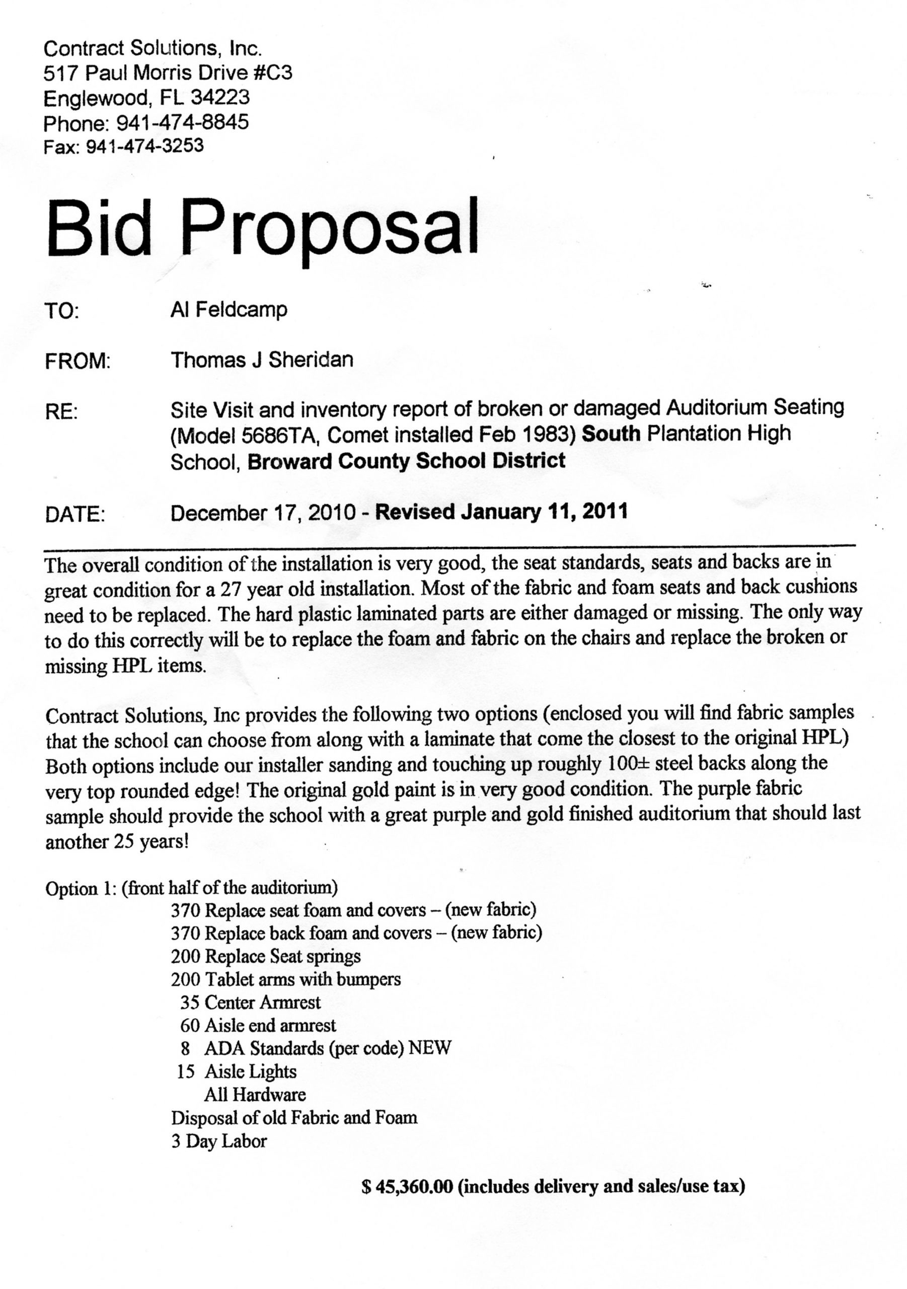 Construction Bid Proposal Template