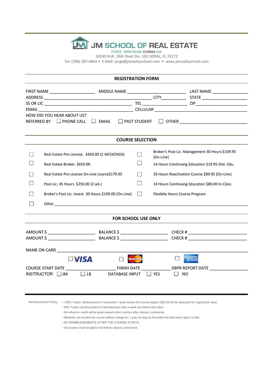 Contest Entry form Template