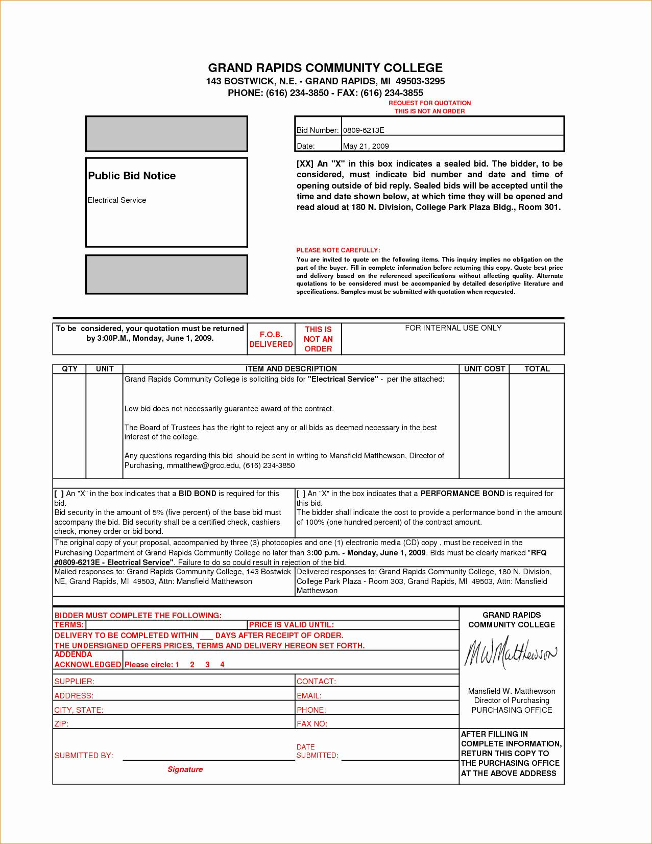 Contractor Proposal Template Free