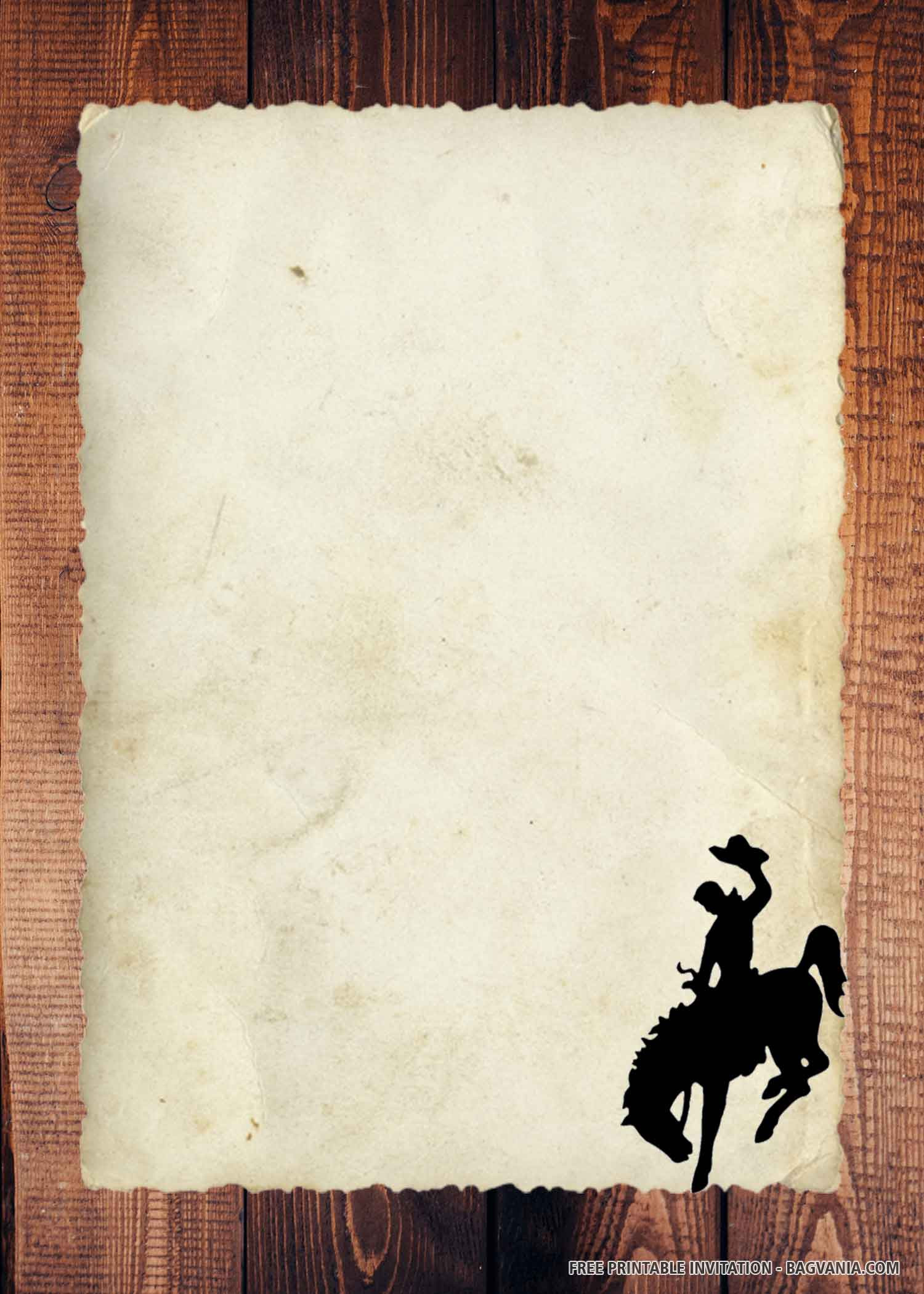 Cowboy Invitations Template Free