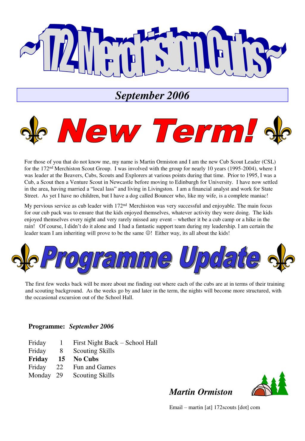 Cub Scout Powerpoint Template