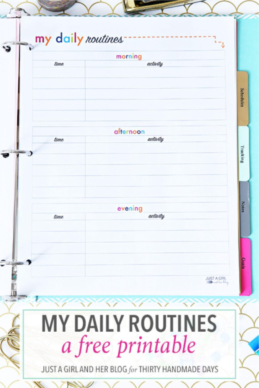 Daily Routine Schedule Template