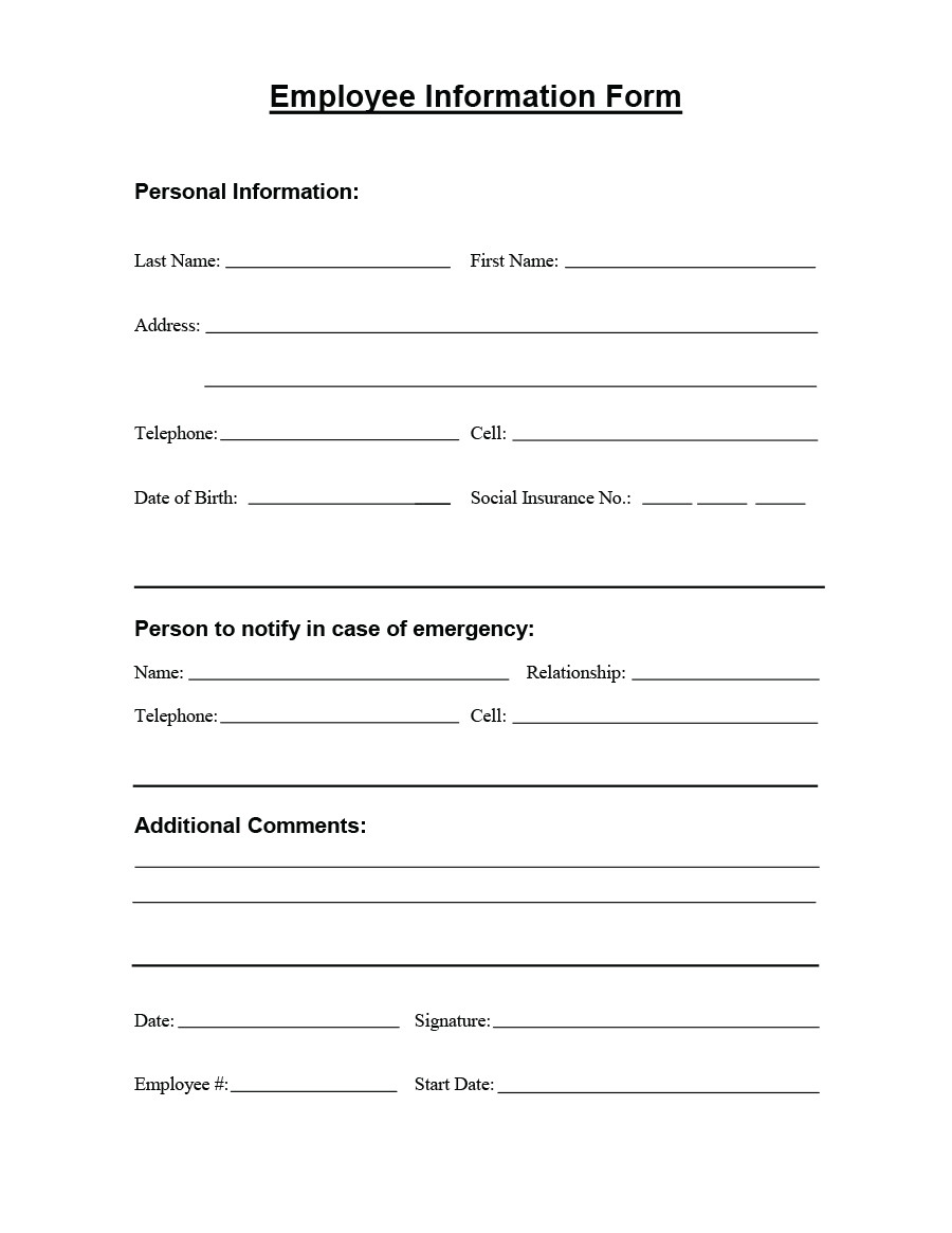 Data Collection form Template