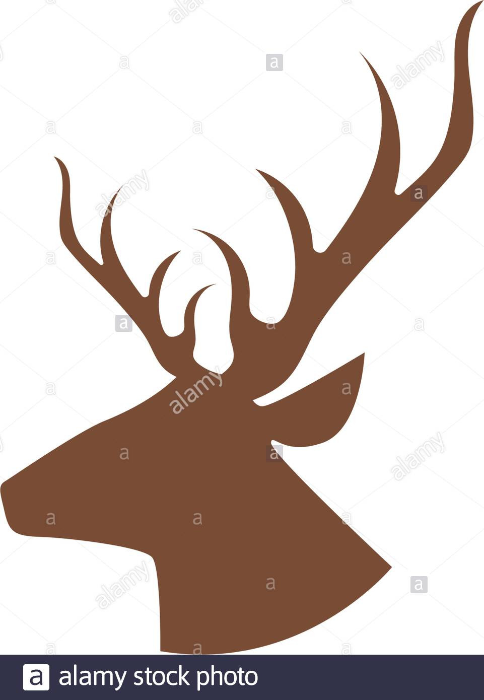 Deer Antler Printable Template