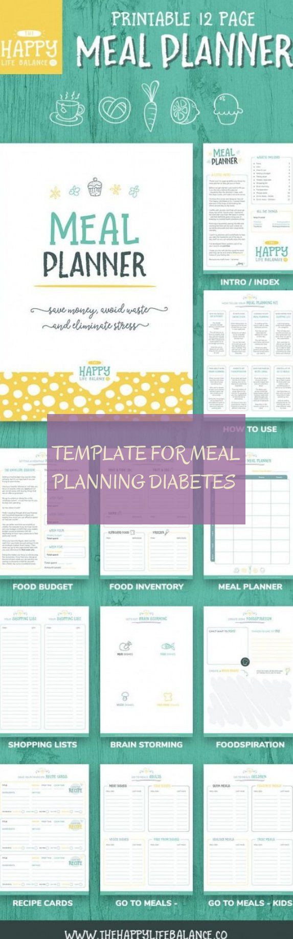 Diabetic Meal Planning Template