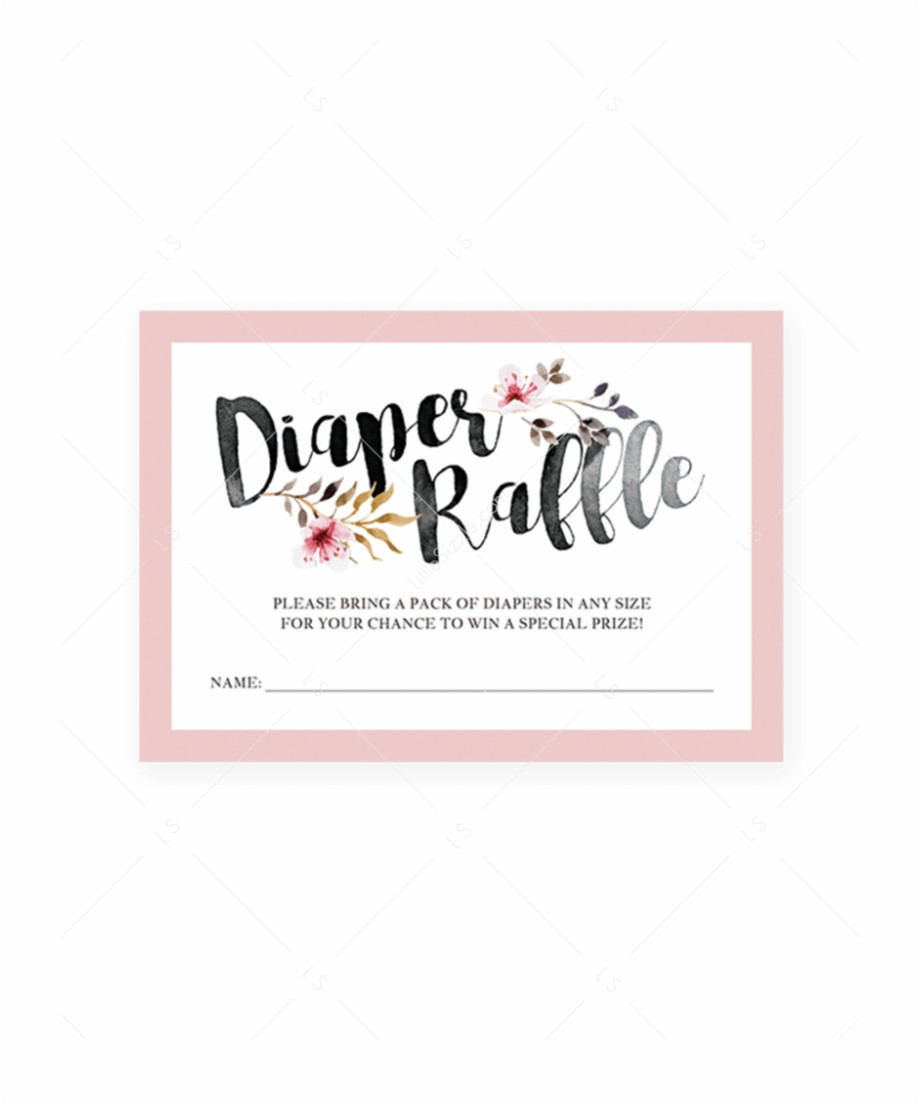 Diaper Raffle Tickets Template