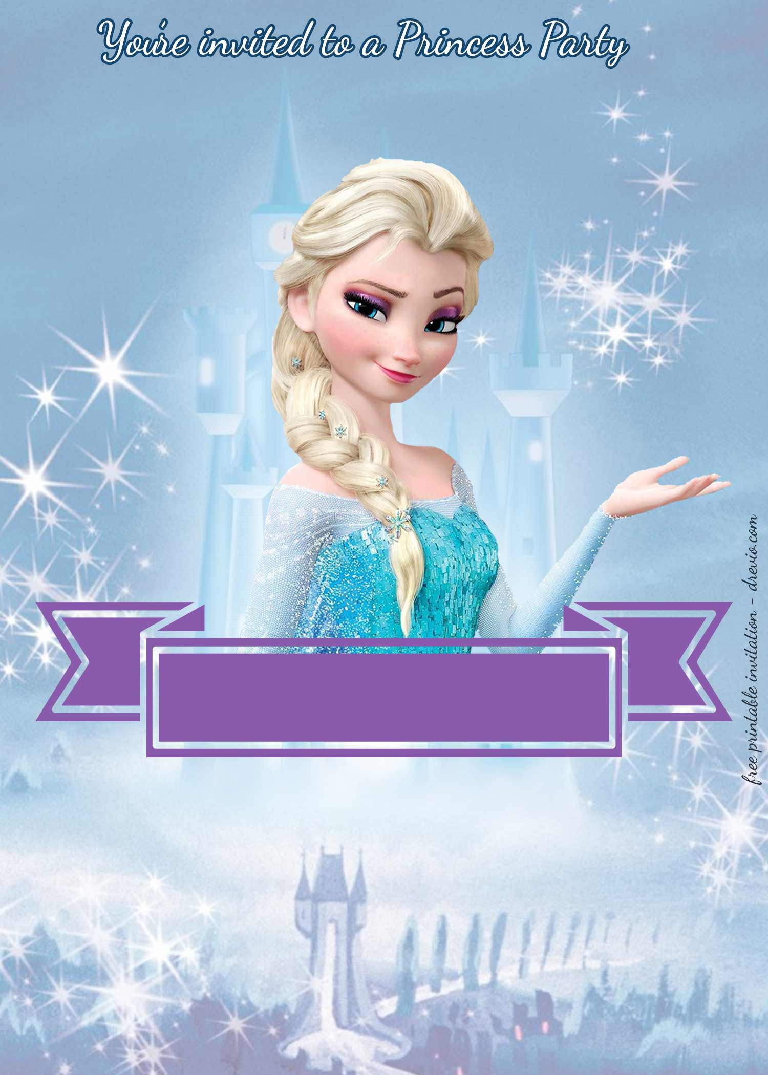 Disney Princess Invitation Template