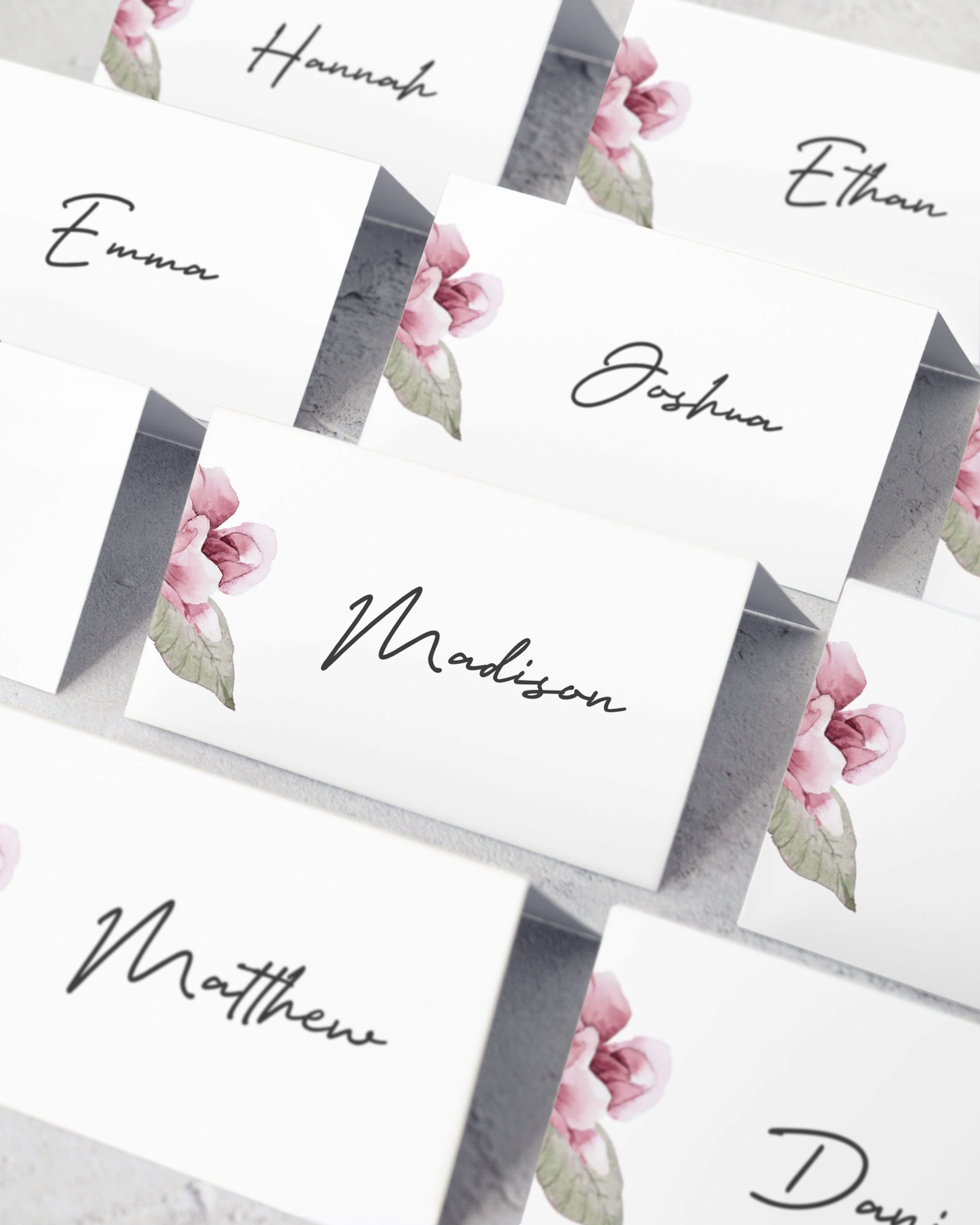 Diy Place Cards Template
