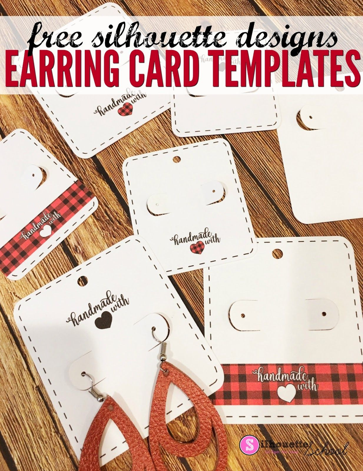 Earring Card Template Free