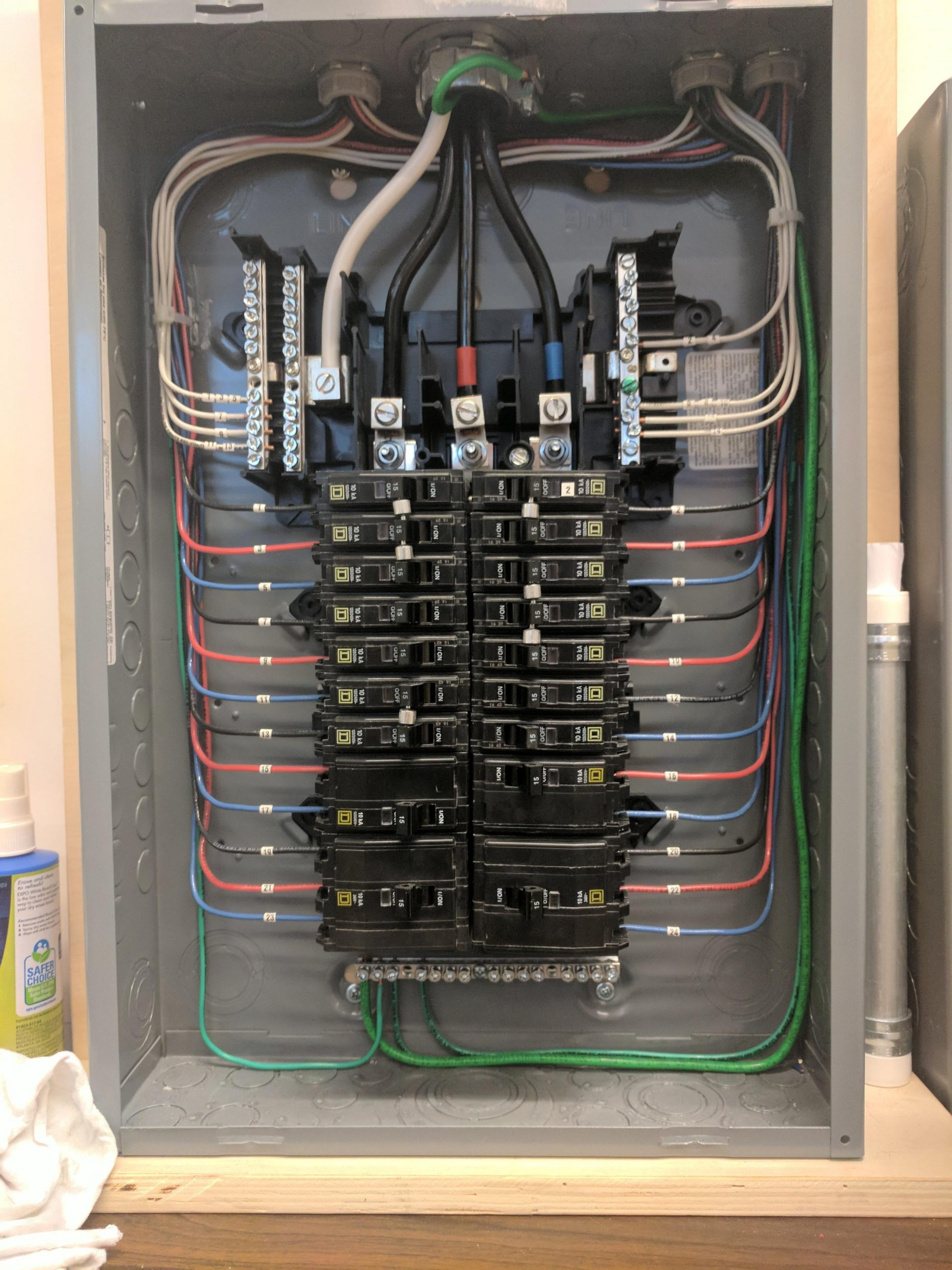 Electrical Panel Label Template