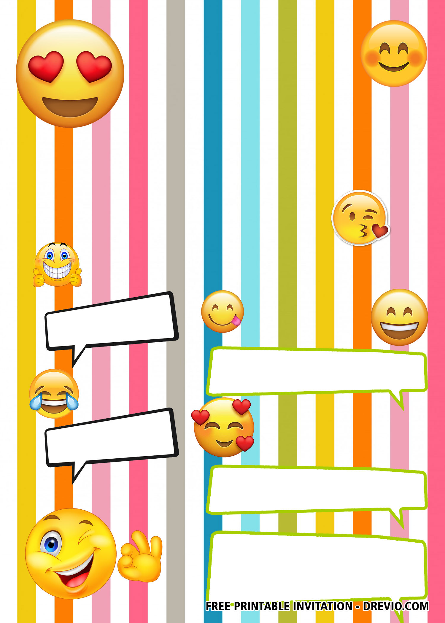 Emoji Birthday Invitation Template