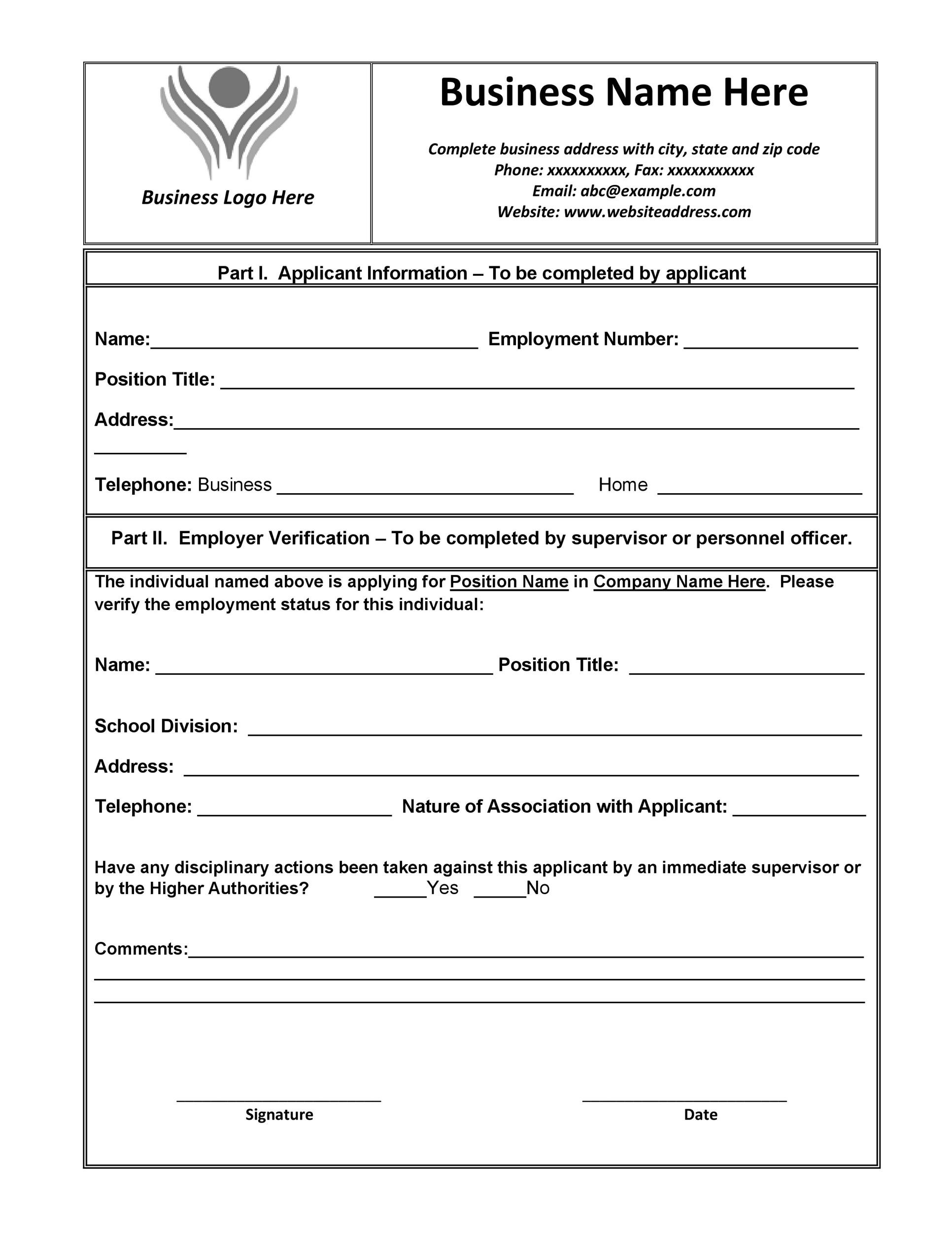 40 Proof of Employment Letters Verification Forms & Samples