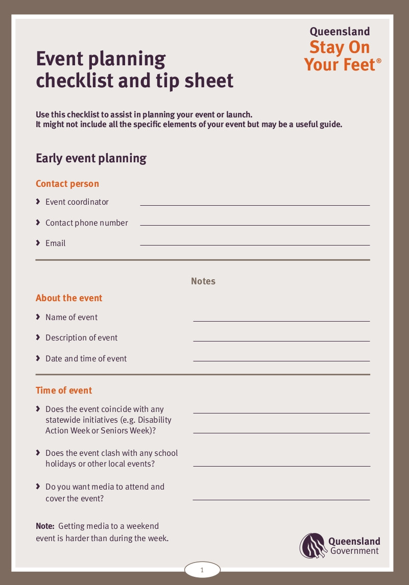 Event Planning Template Excel