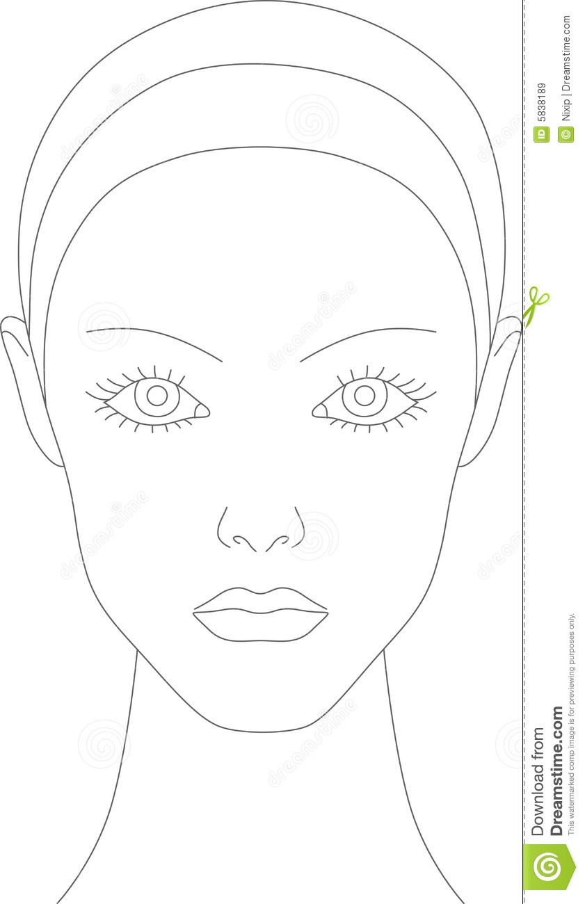 Face Template for Makeup