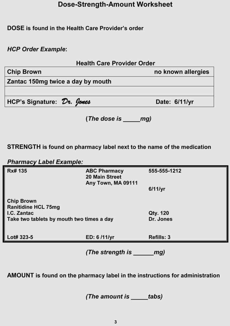Fake Prescription Label Template