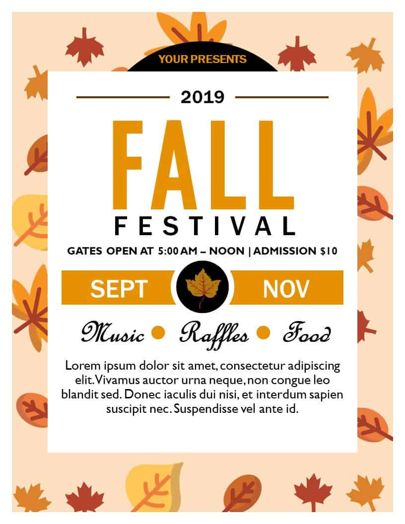 Fall Festival Flyers Template