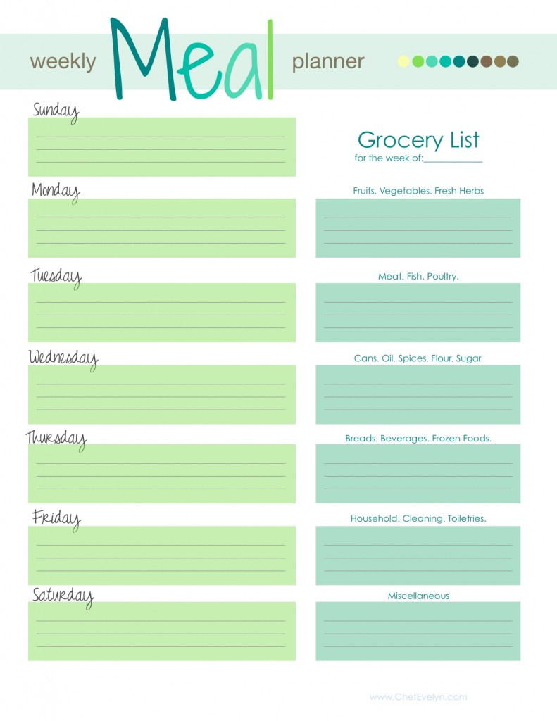 Family Meal Planner Template
