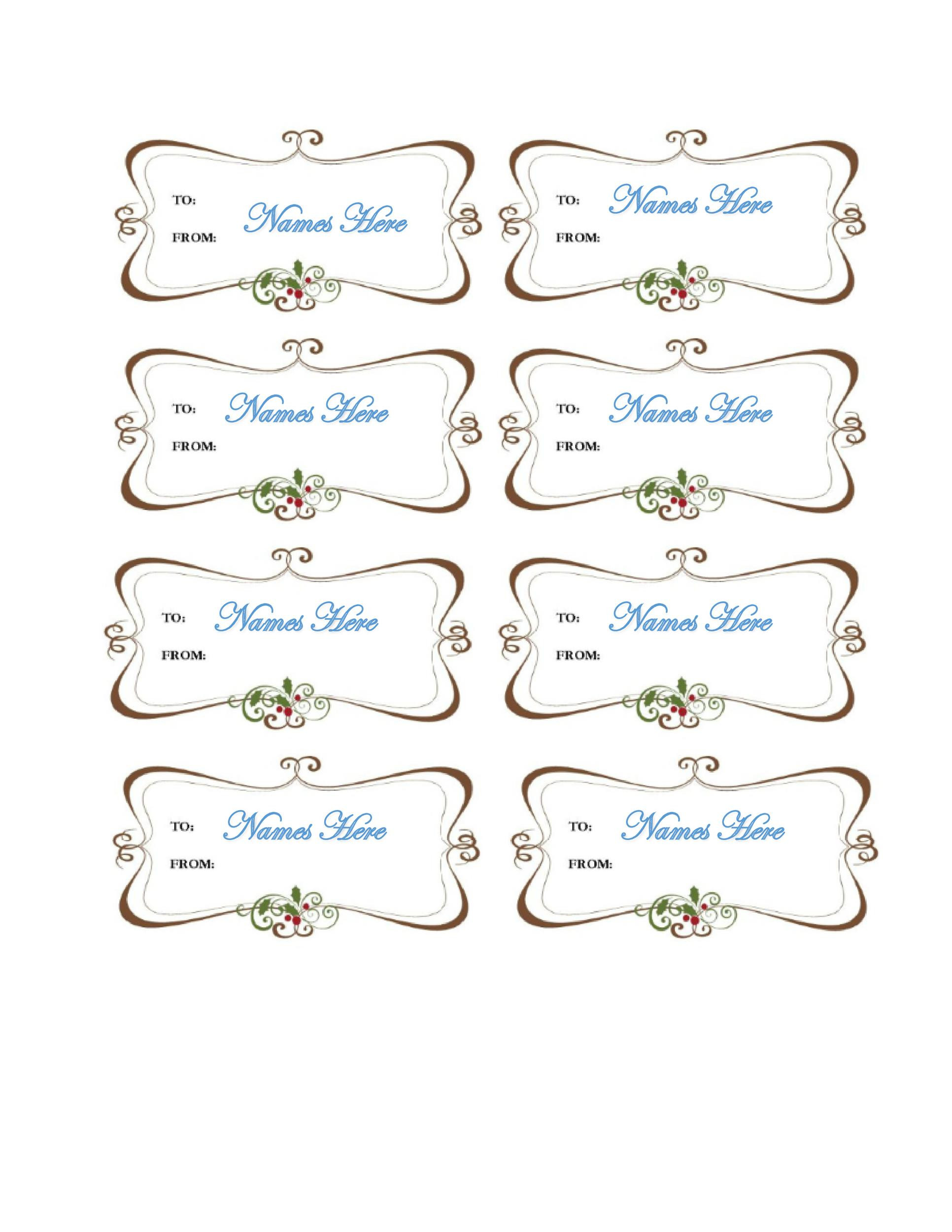 Fancy Name Tag Template