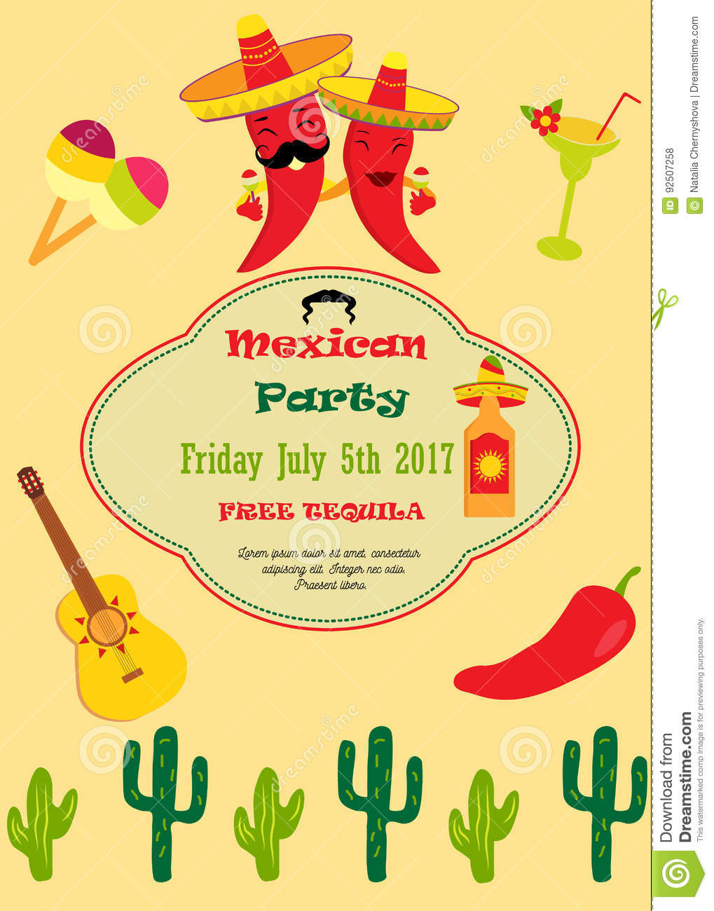 Fiesta Invitation Template Free
