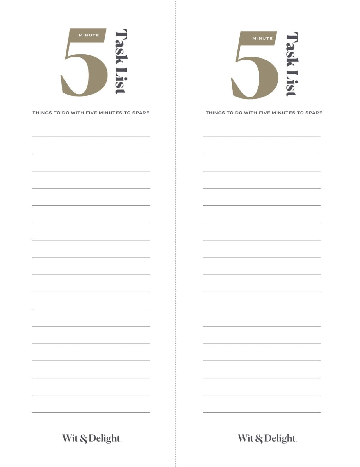 Five Minute Journal Template