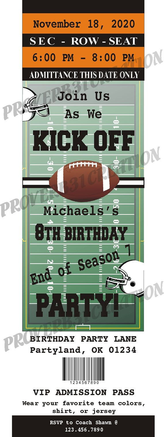 Football Invitation Template Free