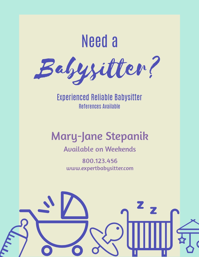 Free Babysitting Flyer Template