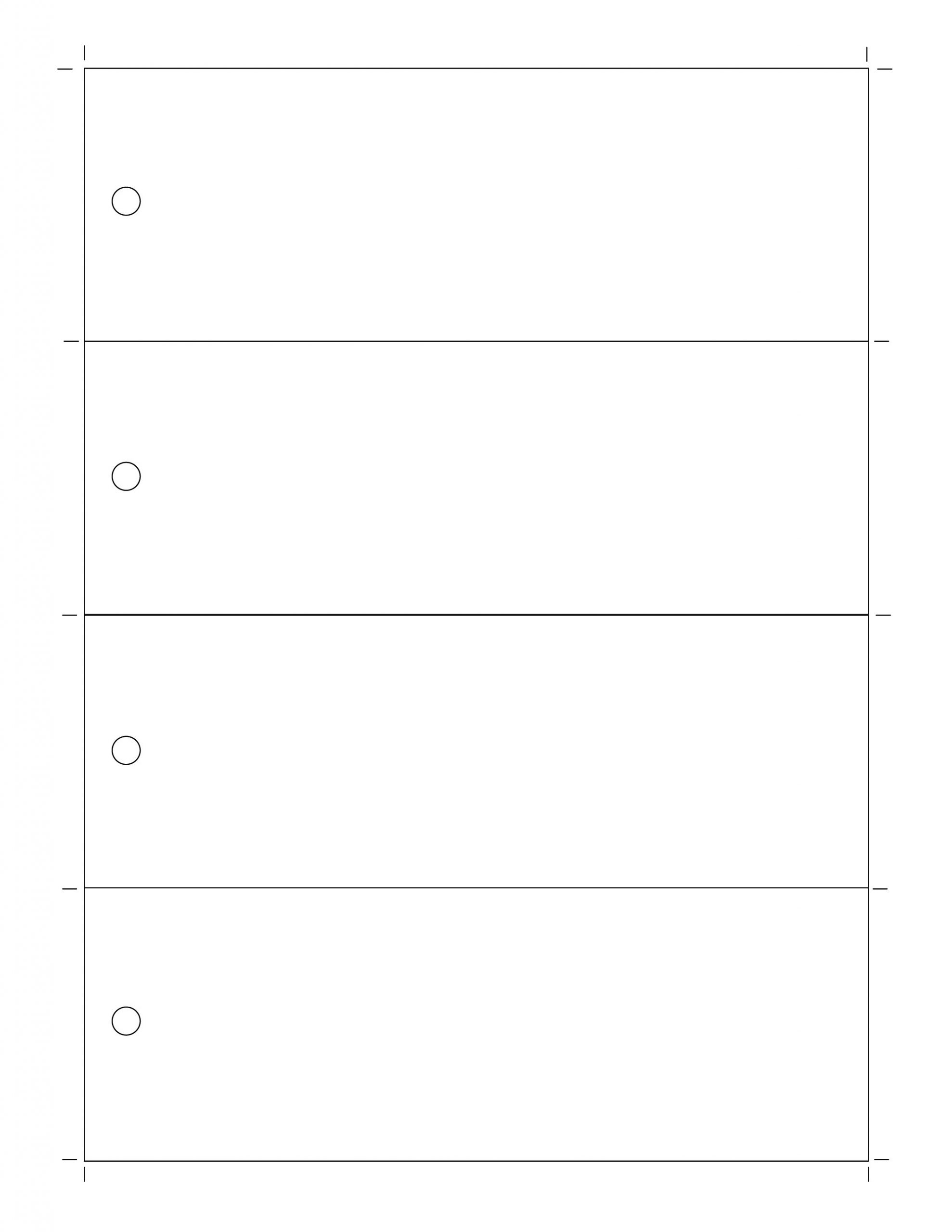 Free Blank Bookmark Template