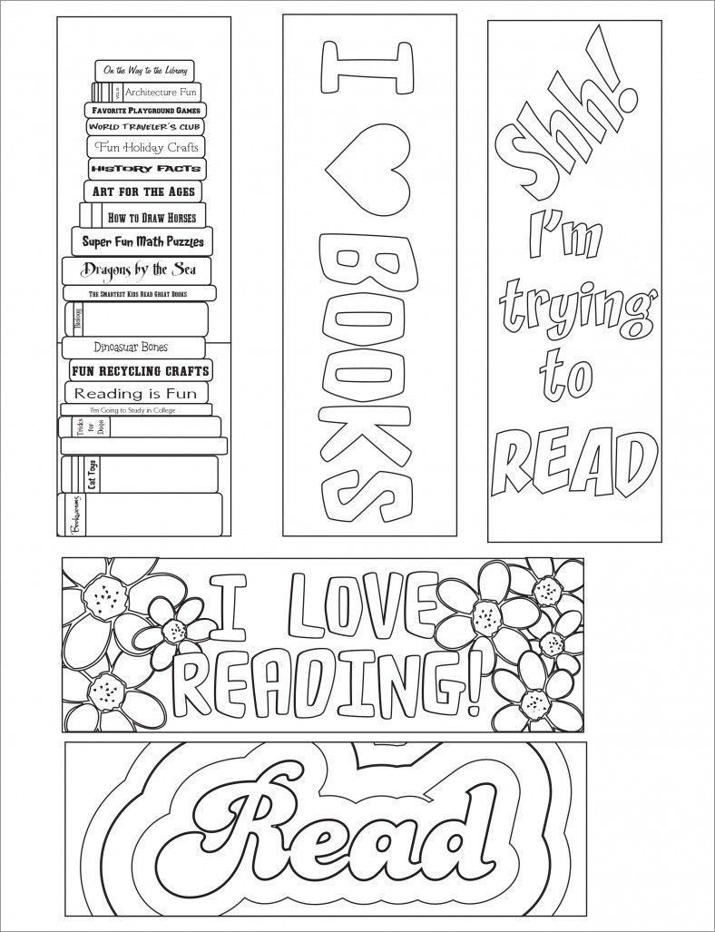 30 Free Printable Bookmark Templates in 2020