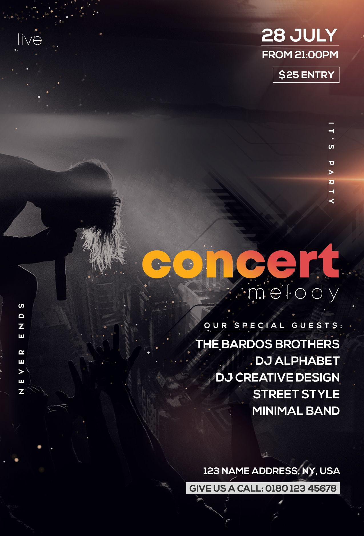 Free Concert Flyer Template